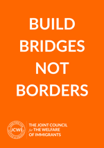 Build bridges not borders poster JCWI
