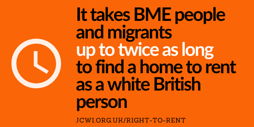 Right to Rent: It takes BME people up to twice as long to find a home to rent as a white British person