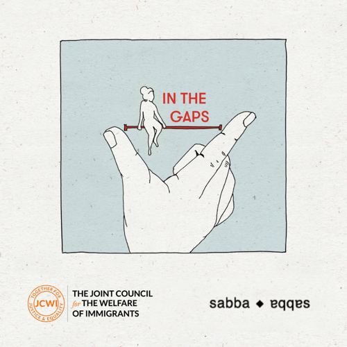 In the gaps - experiences of undocumented migrant workers in the UK - front cover