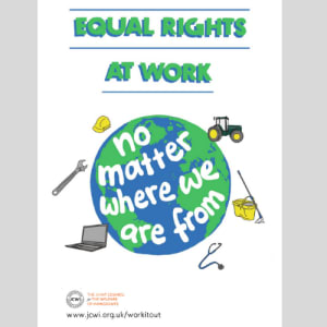 Poster (A3) - Equal rights at work, no matter where we are from