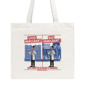 Good Immigrant/ Bad Immigrant Tote Bags