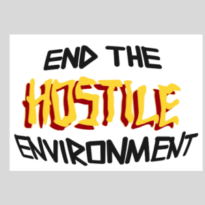 Sticker - End the hostile environment