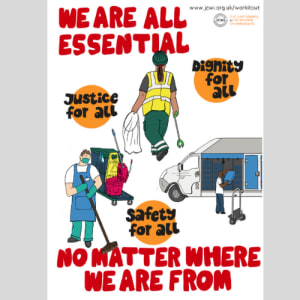 Poster (A3) - We are all essential, no matter where we are from