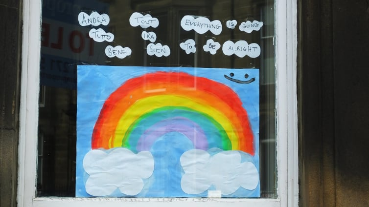 Rainbows window - families together - credit byronv2 flickr