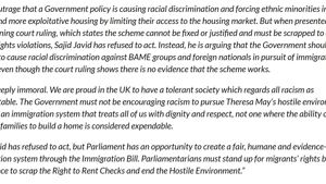 38 organisations sign Joint Letter to Priti Patel | Joint