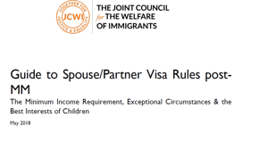 A Guide to Spouse/Partner Visa Rules post-MM - May 2018